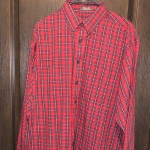 VanHeusen Striped Collared Button-Down Shirt